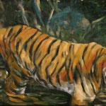 """""""Trinkpause"""", Acryl/Lw., 50 x 100 cm"""