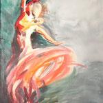 """""""Tänzerin"""", Acryl/Lw., 80 x 60 cm"""