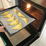Bei 170° im Ofen 12 Minuten backen