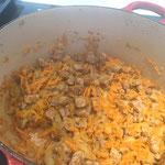Karotten dazugeben