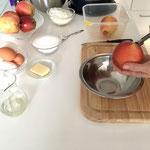 Äpfel ausstechen