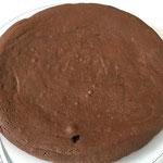 Den erkalteten Kuchen aus der Form nehmen und mit Puderzucker bestreuen
