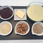 Zutaten für die Füllung der Torte