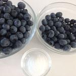Zutaten für die Crème und die Kuchendekortation