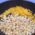 Gemüse würfeln
