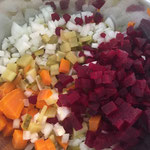 Das geschnittene Gemüse
