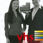Vorstellung des Papiermodells Bamberger Haus auf dem Veranstaltungskatalog der Volkshochschule VHS