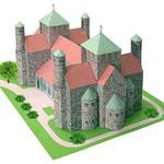Papiermodell der Sankt Michaelis Kirche in Hildesheim (co. Monno Marten)