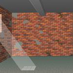Phase 4 _ Freigelegtes Mauerwerk, teilverputzt