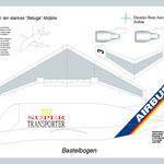 Bastelbogen des Airbus-Supertransporters