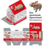 Verpackungsentwurf für ein Sparschwein