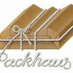 Firmenemblem >Packhaus<, Airbrushillustration