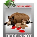 Entwurf für ein Signet >Tiere in Not<