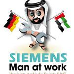 Maskottchen für Siemens-Firmenmitarbeiter in Dubai (VAE)