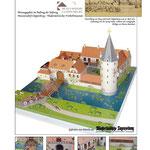 Papiermodell der historischen Cloppenburg, Konstruktionen Monno Marten