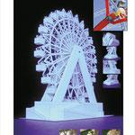 Papiermodell eines Riesenrads (Konstruktion eines Bastelbogens von Monno Marten)