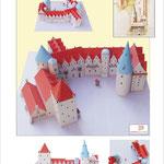 Papiermodell des historischen Delmenhorster Schlosses (co. Monno Marten)