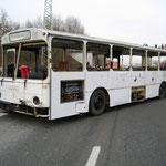 Der an der Massenkarambolage beteiligte Bus.