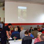 Die Diashow führte unsere Gäste durch 130 Jahre Freiwillige Feuerwehr Hatzenbühl.
