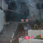 Canon EOS 600D mit Blitz, Zigarettenrauch im Freien