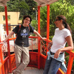 Wandern in Ecuador: unterwegs zum Wanderweg per Seilbahn
