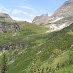 Unterwegs auf dem Highline Trail im Glacier National Park