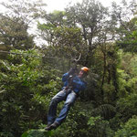 Kurz vor der Landung: Canopy in Monteverde
