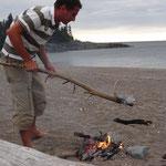 Das erste Lagerfeuer in Kanada: am Lake Superior