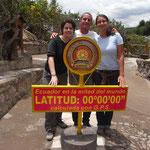 Zu Dritt am Äquator