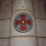 Eglise de Nontron (24 Dordogne) une des Croix de consécration - photo MC pour les amis de l'orgue de l'Orgue de Nontron