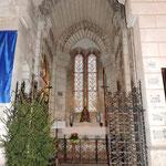 Eglise de Nontron (24 Dordogne) la chapelle Notre-Dame des Ronces - photo MC pour les amis de l'orgue de l'Orgue de Nontron