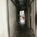 Coulolir sous les maisons de la rue