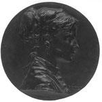 Henri Chapu : Médaillon de Marie Chapu