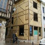 Retour dans la rue Emile Zola vue de la maison d'angle de la sortie