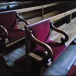 Chapelle : Siège réservé aux Maitresses d'éducation