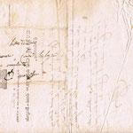 Abdallah d'Asbone : Lettre du Général CURIAL (an 10 - 1802)  Verso : adresse