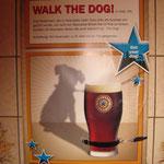Plakat im Finnegans Irish Pub