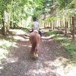 Yves beim reiten