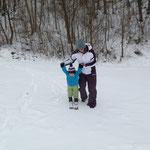 das erste mal auf den Skien!