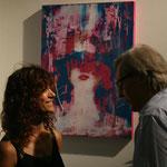 """con Vittorio Sgarbi, sul fondo la mia opera """"Elisa"""", Biennale di Venezia Padiglione Calabria 2011"""