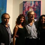 con Vittorio Sgarbi, mia figlia e il curatore del Padiglione Regione Calabria Biennale di Venezia Padiglione Calabria 2011