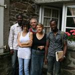Residenza d'Artista nella casa di Yvonne Jean Haffen a Dinan, Francia, con Fernanda Stefanelli, Carmine Cozza e due artisti francesi (di cui non ricordo il nome)