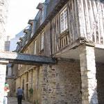 Vitré :  Maisons de la vieille ville médiévale.