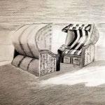 Übungszeichnung Strandkörbe © Monika Rotzinger 2020