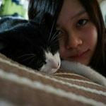 愛猫くろちゃんと