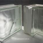 glasbausteine-center  Glasstein Glass Blocks 90°-Eckstein Corner 90° Clear Sahara 1S Satiniert Wave Wolke  19x13,2x8 cm smooth sandblasted abschlussstein klar  198 cornerel  1908  W EC  NE Basic  Glazen bouwstenen Glas Stegels Glasdallen glazen blokken