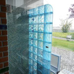 Bild: Glasbausteine-center Glasbausteine-center.de Bad Dusche Showers Glasbausteine Glassteine Glass Blocks Glasbaustein Glasstein Duschwand Sanitär Nassbereich Glas Stegels Glasdallen glazen blokken Glasblokke glass blokker Lasitiilet Glasblock Lasi Tiil