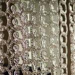 Meteore Poesia Crystal Crystallo Kristall Glasvorhänge Murano Glass Curtains Shop Deco Glas Vorhang Glaselemente Innendekoration Cristal Modularelemente Kristallvorhänge Raumteiler visual merchandising Glas gardiner cortinas de cristal vedro España Deko