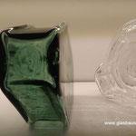 Formgeblasene Glasbausteine Gustav Falconnier Nr. 9 Nr. 8  Glassteine Briques de verre Vetromattone Vetrocemento Luxfer Prismen Glass Blocks Originale + Repliken Replica Replik Réplique Glasstein
