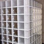 Bild: Glasbausteine-center Glasbausteine-center.de Bad Dusche Showers Glasbausteine Glassteine Glass Blocks Glasbaustein Glasstein Duschwand Sanitär Nassbereich glazen blokken υαλότουβλα blociau gwydr bloic ghloine זכוכית בלוקים Blokki tal-ħġieġ Glasbakst